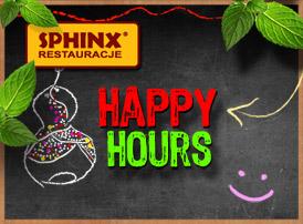 Happy-hours w restauracjach Sphinx!